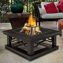 Real Flame Crestone Fire Pit With Brown Tile