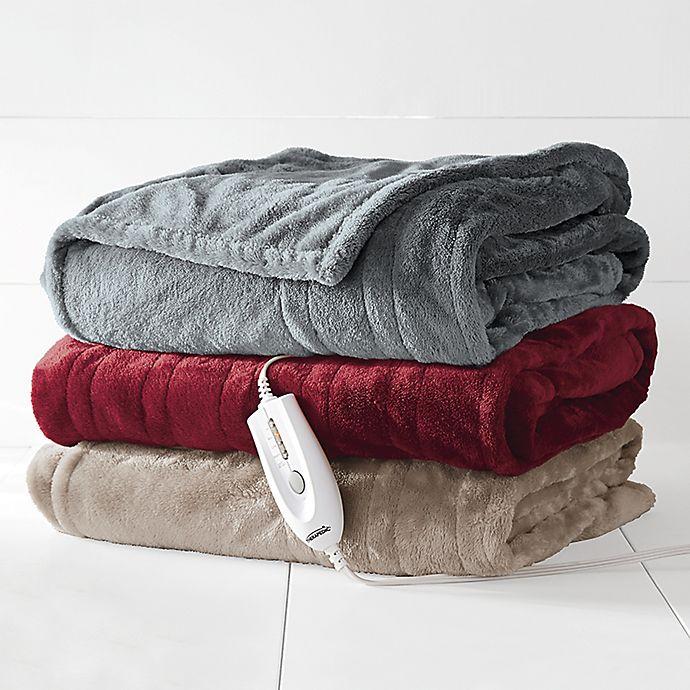 Therapedic Electric Heated Silky Plush Throw Blanket Bed Bath