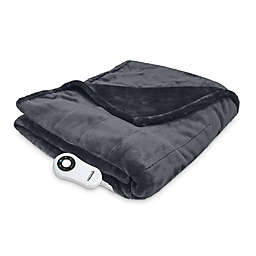 Therapedic® Electric Heated Silky Plush Throw Blanket