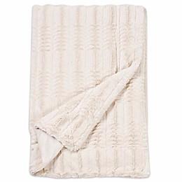 Embossed Faux Mink Fur Throw Blanket