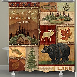 Laural Home® Lodge Collage I Shower Curtain