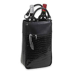 Primeware Insulated 2-Bottle Wine Purse in Black