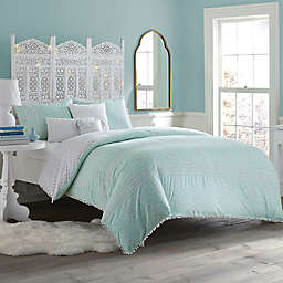 Anthology™ Moroccan Party Comforter Set in Mint Green/White