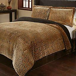 Cheetah 3-Piece Plush Comforter Set
