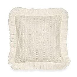 Anthology™ Jodhpur Knit Square Throw Pillow in White