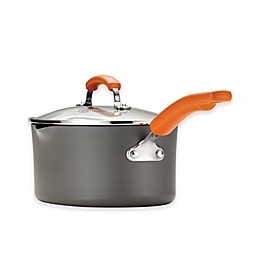 Rachael Ray™ Hard Anodized Nonstick 3 qt. Covered Oval Sauté Pan in Grey/Orange