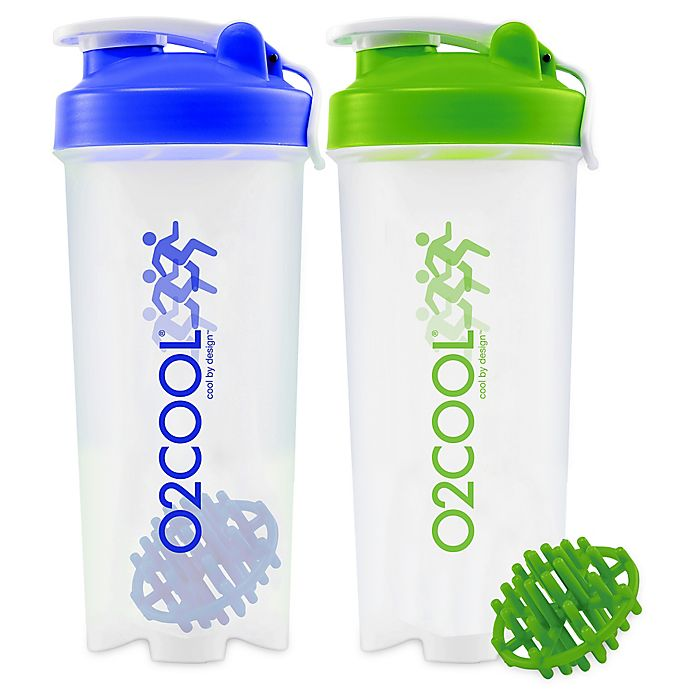 Protein Shaker Canada: O2COOL® 2-Piece 30 Oz. Protein Shaker Bottle Set In Blue