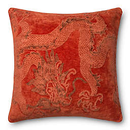 Loloi™ Rich Chenille and Viscose Chili 26-Inch by 26-Inch Cover and Down Pillow