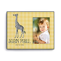 Sweet Giraffe Personalized Picture Frame in Yellow