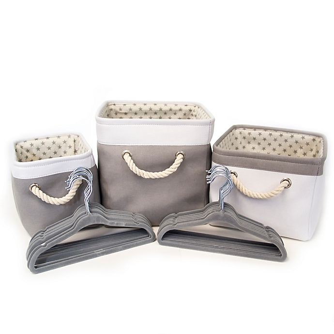 Alternate image 1 for Closet Complete® 23-Piece Baby Shower Gift Set in Grey
