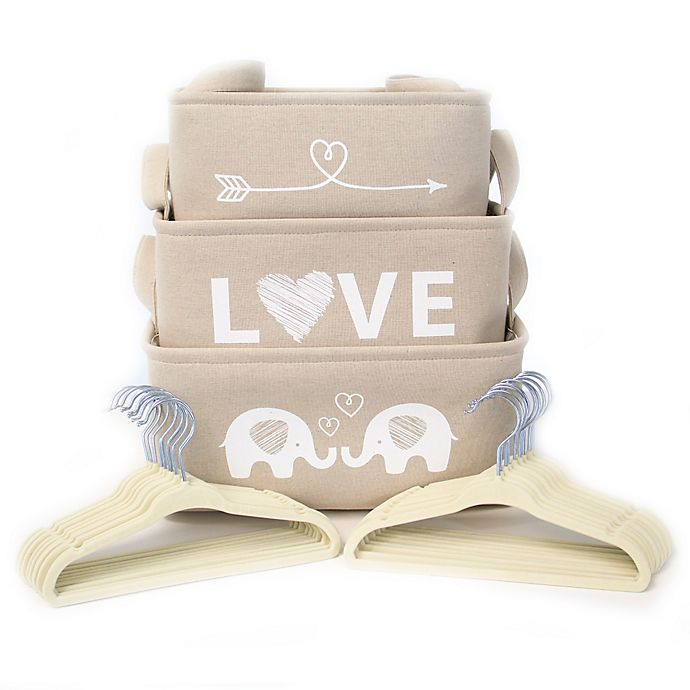 Alternate image 1 for Closet Complete® 23-Piece Baby Shower Gift Set in Natural