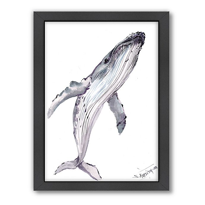 Alternate image 1 for Americanflat Suren Nersisyan Designs Humpback Whale Matte Print with Frame