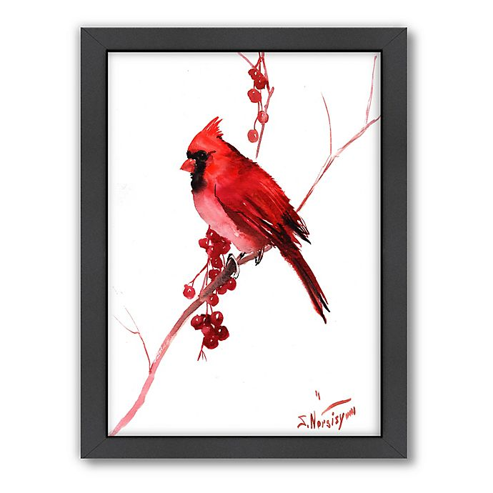 Alternate image 1 for Suren Nersisyan Red Cardinal Bird Wall Art