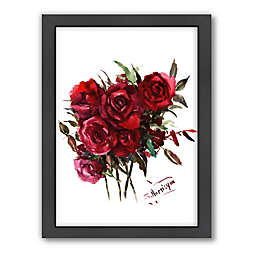 Americanflat Suren Nersisyan Deep Red Burgundy Roses Wall Art