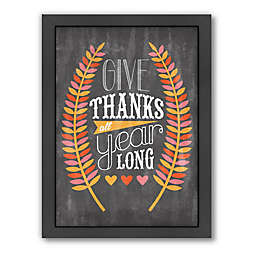 "Americanflat Jill Broadhacker ""Give Thanks"" Wall Art"