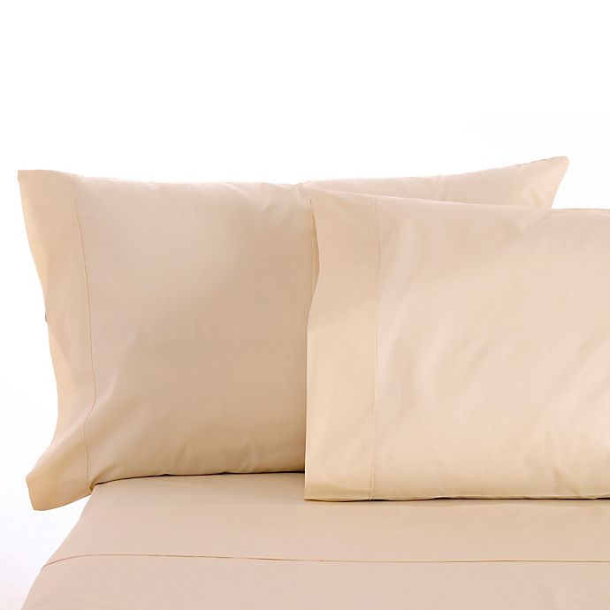 Alternate image 1 for Sleep & Beyond Solid 300-Thread-Count Cotton Sateen Twin XL Sheet Set in Natural