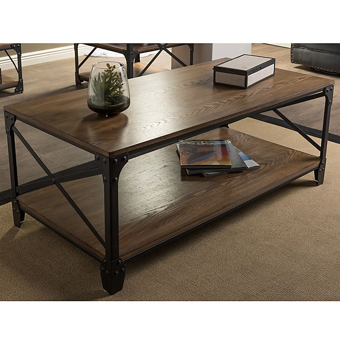 Alternate image 1 for Baxton Studio Greyson Antique Bronze Coffee Table