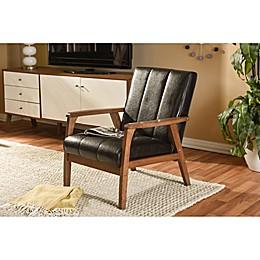 Baxton Studio Nikko Wooden Lounge Chair