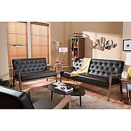 Baxton Studio Sorrento 3-Piece Sofa Set