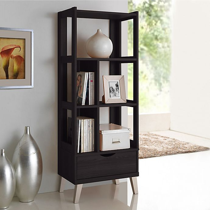 Alternate image 1 for Baxton Studio Kalien Small Bookcase in Dark Brown