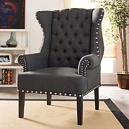 Baxton Studio Knuckey Wingback Arm Chair