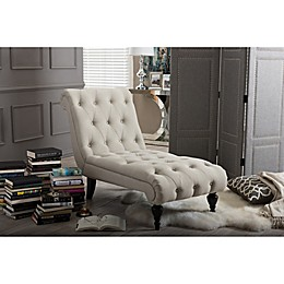Baxton Studio Layla Button-Tufted Chaise Lounge