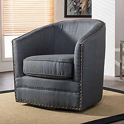 Baxton Studio Porter Swivel Tub Chair