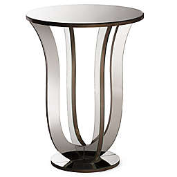 Baxton Studio Kylie Mirrored Side Table in Silver