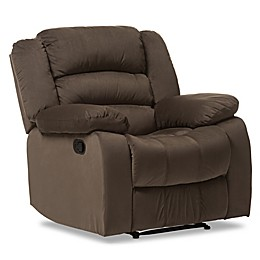 Baxton Studio Hollace Recliner Chain in Taupe