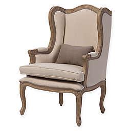 Baxton Studio Orielle Upholstered Armchair in Beige