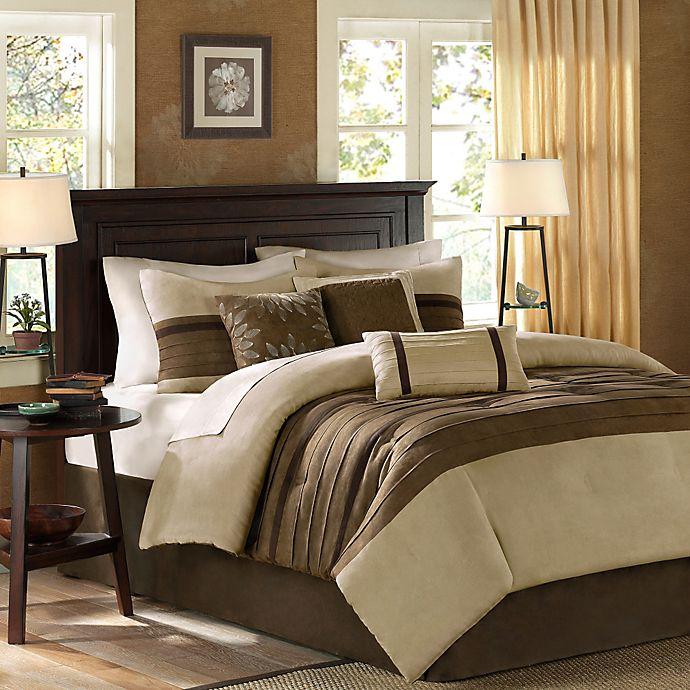 Alternate image 1 for Madison Park Palmer 7-Piece Queen Comforter Set in Natural