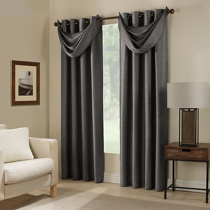 Alternate image 1 for Paradise Room Darkening Grommet Top Window Curtain Panel and Valance