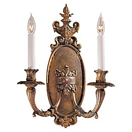 Metropolitan Vintage Collection 2-Light Wall Sconce in Antique Bronze Patina