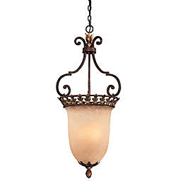 "Metropolitan® Lighting Zaragoza™ 3-Light 39"" Pendant in Golden Bronze"
