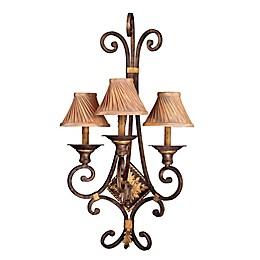 Metropolitan® Lighting Zaragoza™ Collection 3-Light Wall Bracket in Golden Bronze