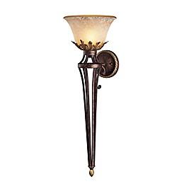 Metropolitan® Lighting Zaragoza™ Collection 35-Inch Wall Torchiere in Golden Bronze