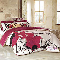 Kensie Blossom Full/Queen Duvet Cover Set in Peach