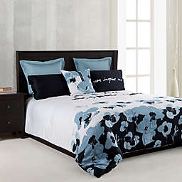 Kensie Blue Poppy Comforter in Blue
