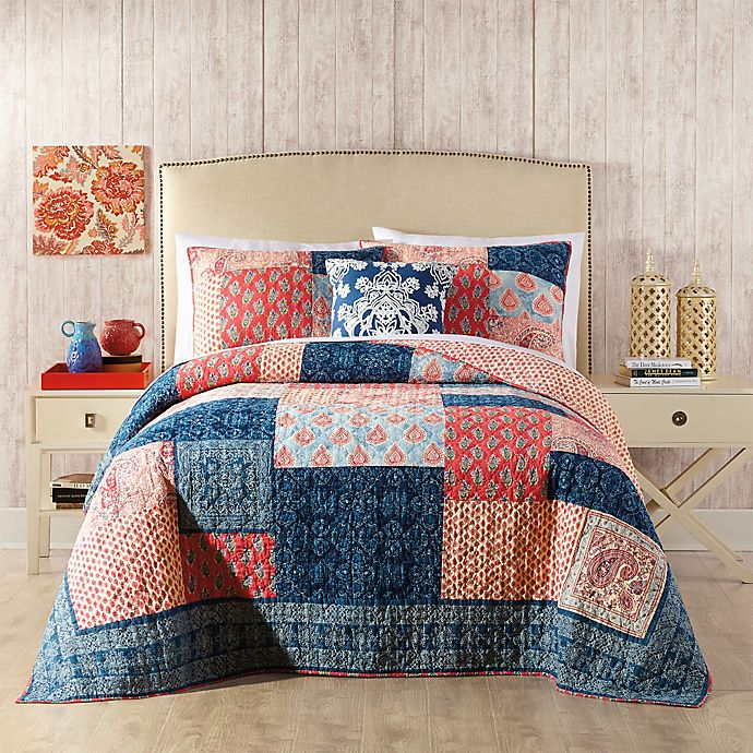 Jessica Simpson Grace Quilt In Blue Bed Bath Amp Beyond