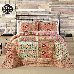 Jessica Simpson Tika Quilt in Coral/Red