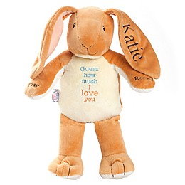 """I Love You"" Recordable Bunny Plush in Orange"
