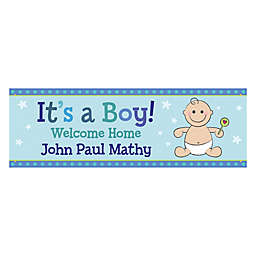 """Personalized """"It's a Boy!"""" Banner"""