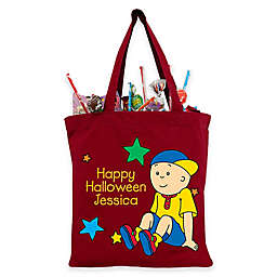 Caillou and Stars Trick-Or-Treat Bag in Red