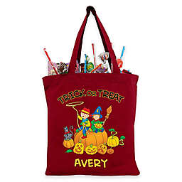 Caillou Giant Pumpkin Trick-Or-Treat Bag in Red