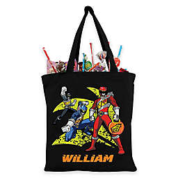 Personalized Dino Charge Power Rangers Trick-Or-Treat Bag in Black