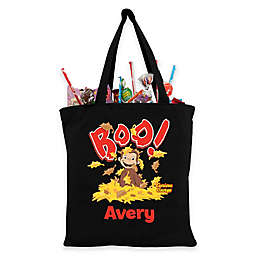 Personalized Curious George Trick-Or-Treat Bag in Black