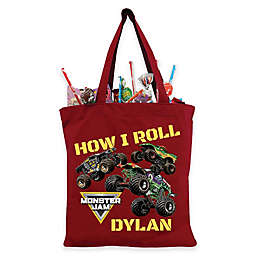 "Monster Jam ""How I Roll"" Trick-Or-Treat Bag in Red"
