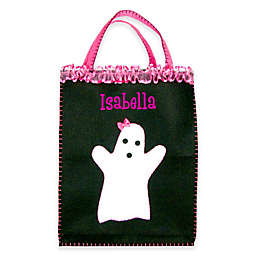 Girly Ghost Trick-Or-Treat Bag in Black