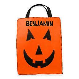 Jack-o-Lantern Trick-or-Treat Bag in Orange