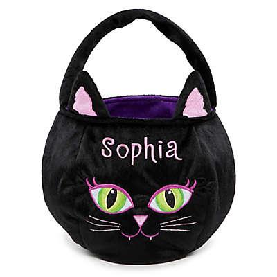 Cat Trick-Or-Treat Bag in Black